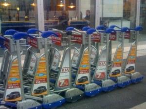Aeroporto di Francoforte - Il carrellino è gratis grazie allo sponsor